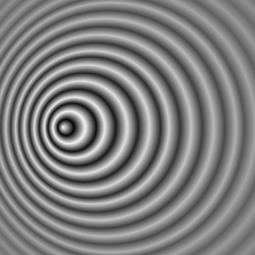 "Graphic image showing the behavior of waves of light emitted by a moving source that ""pile up"" in the direction of motion, giving rise to the Doppler effect."
