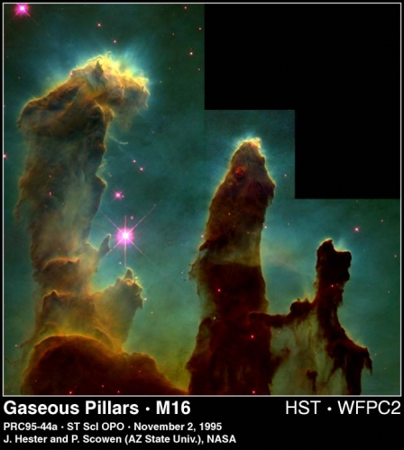 Image of the Gaseous Pillars from the Eagle Nebula
