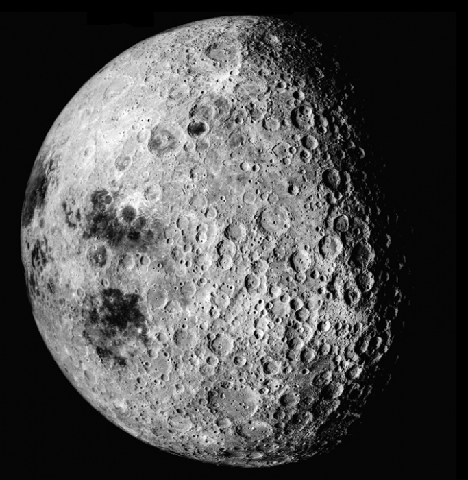 Photographic image of the far side of the Moon taken from spacecraft Apollo 16