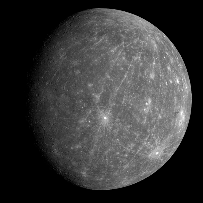 Image of the planet Mercury from NASA Messenger Mission
