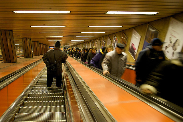 image of escalators