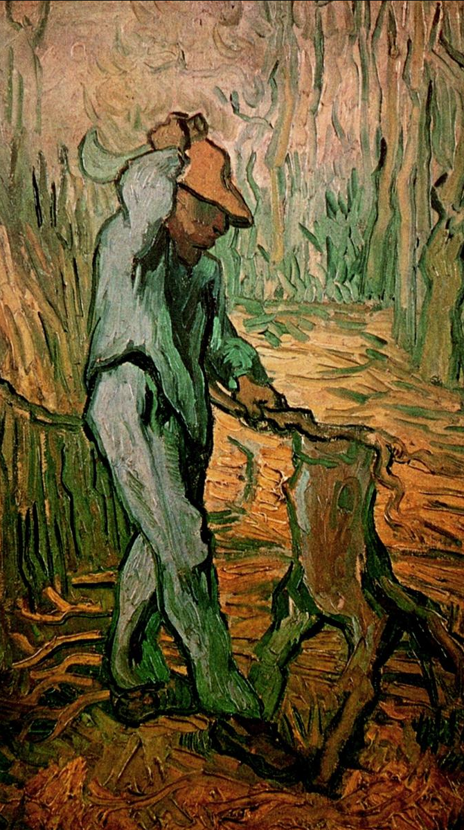 van gogh painting of woodcutter