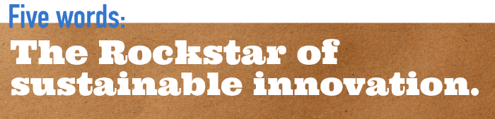Five word summary - The rockstar of sustainable innovation