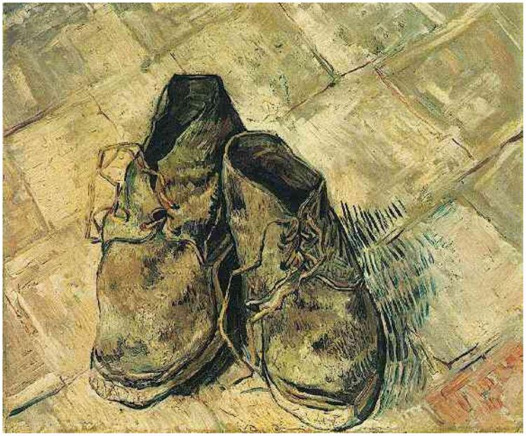 van gogh painting of boots