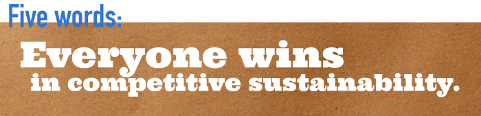 Five word summary - Everyone wins in competitive sustainability