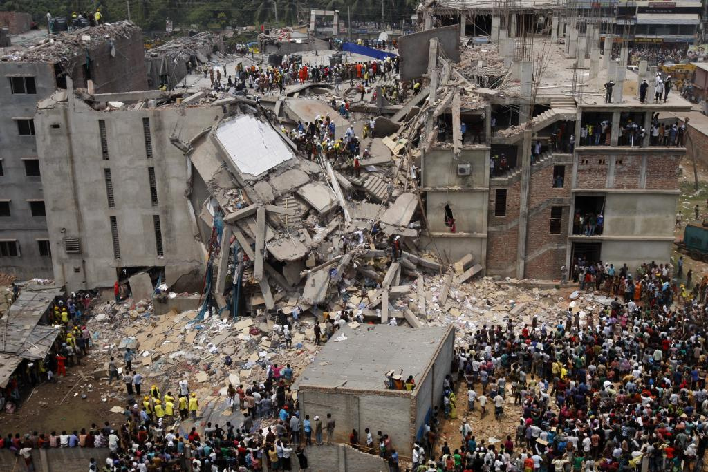 Rana Plaza rubble