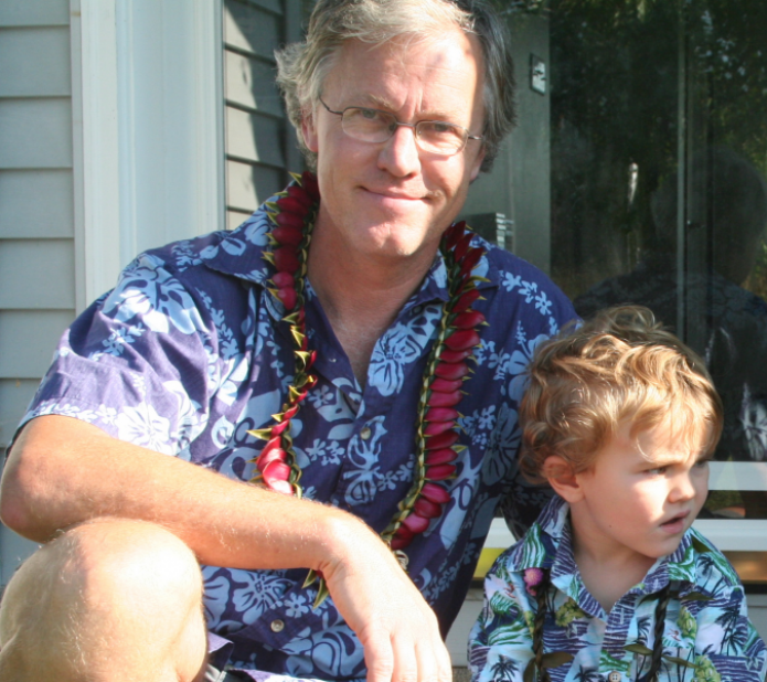 Dr. David Bice with his son Nile