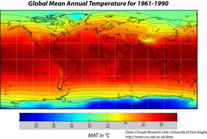 University Park Section – Earth Temperature Map