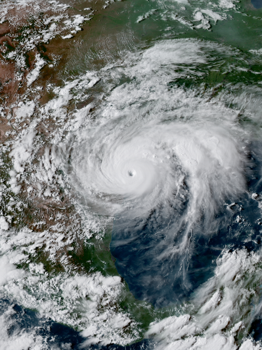 Satellite image Hurricane Harvey