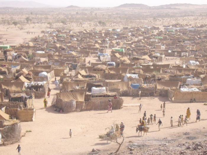 Photo of Darfur refugee camp in Chad