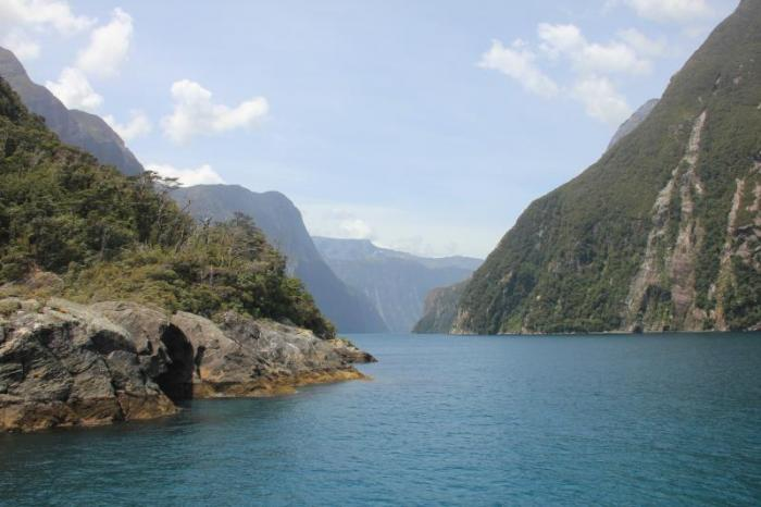 Milford Sound, a glacial fjord in New Zealand