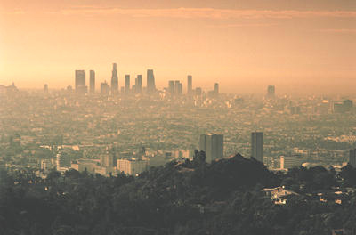 Ozone pollution over downtown Los Angeles
