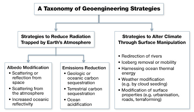 A taxonomy of Genoengineering Strategies, explained in long description.