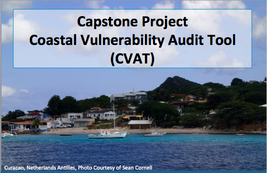 "photo of an island with the title""Coastal Vulnerability Audit Tool (CVAT)"