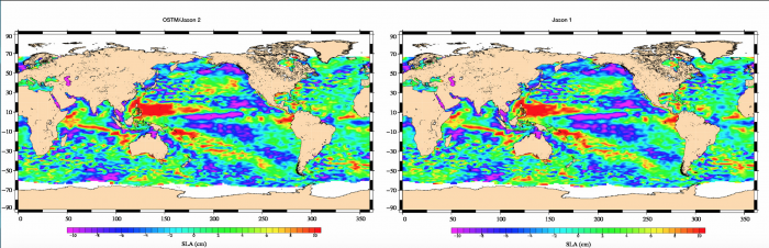 Sea Level Anomalies, areas show increasing or decreasing trends are similar to previous years