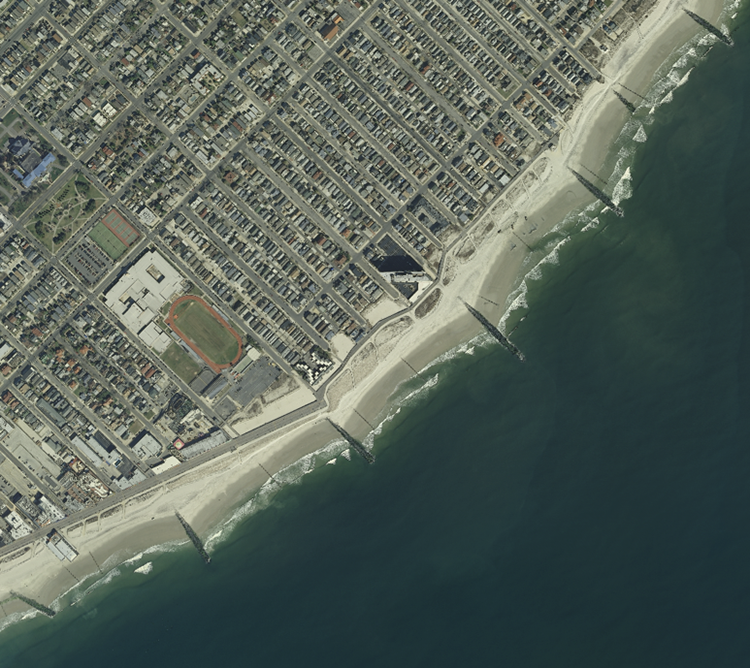 High resolution orthoimagery of the Groins along the Ocean City, NJ shoreline. described in text above