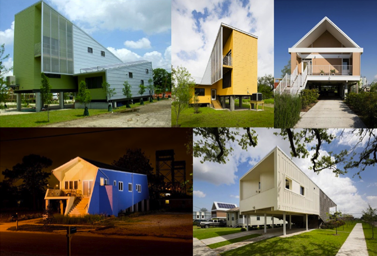 Five different energy efficient houses utilizing modern designs.