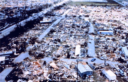 image of debris that used to be mobile homes