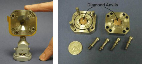 diamond anvil cells used in high pressure experiments