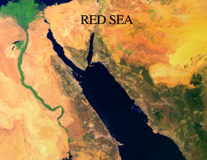 Infared image of the red sea