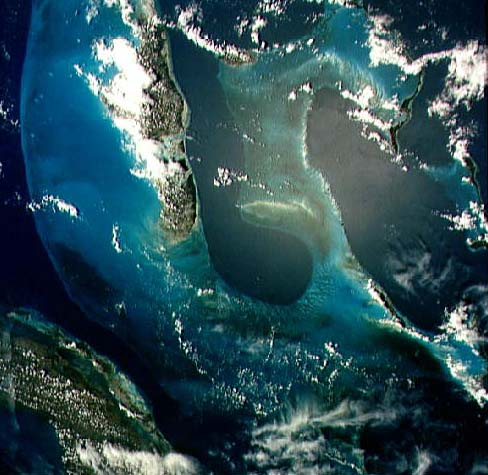 satellite image of Grand Bahamas Bank