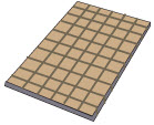 Rock Wool insulation- a flat solid piece