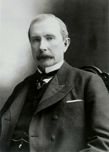 Black and white portrait of John D. Rockefeller