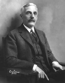 Old black and white portrait of Andrew Mellon
