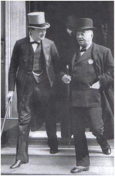 Black and white photo of Fisher and Churchill