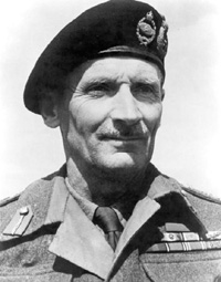 Black and White photo of General Bernard Montegomery