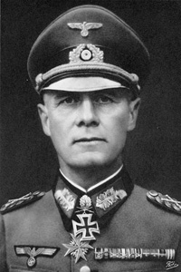 Black and White photo of General Erwin Rommel