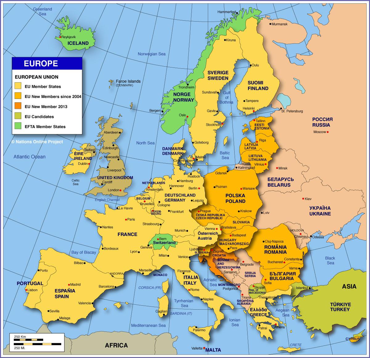 map of europe with eu countries Europa | EME 444: Global Energy Enterprise