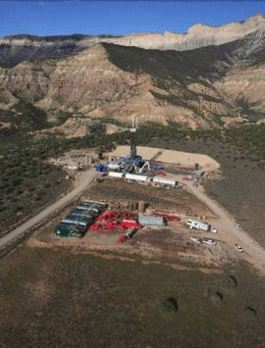 photo of natural gas well drilling operation
