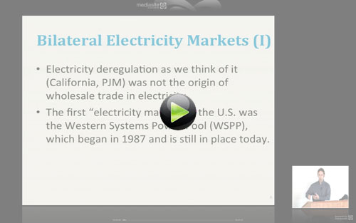 Screen capture of the Bilateral and Centralized Electricity Markets vidoe clip.