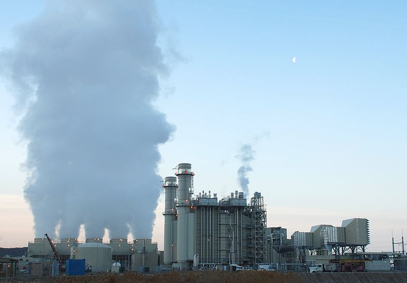 Picture of power plant in Linden, Utah converting natural gas into electricity