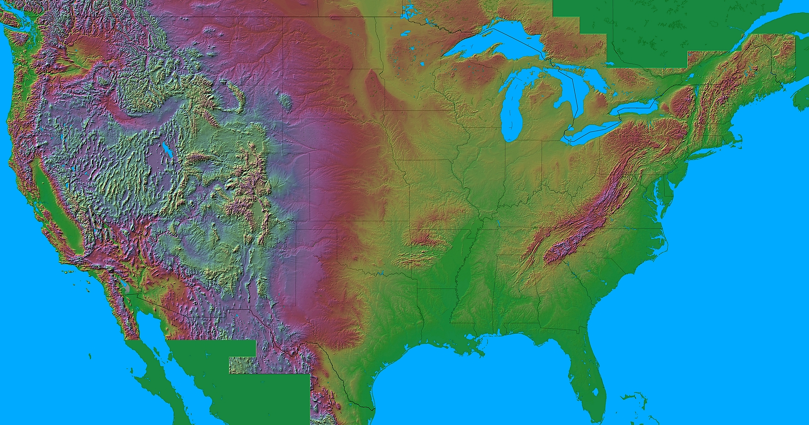 in the united states cold air damming occurs over the eastern foothills of the appalachians and rockies to see what i mean check out this us relief map