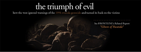 human skulls with the caption the triumph of evil