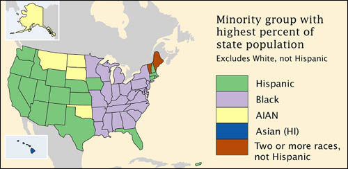 Attribute Measurement Scales GEOG Mapping Our Changing - Map majority minority us