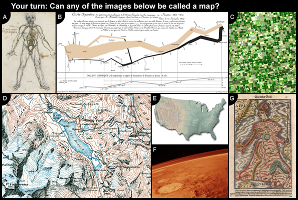 Several images that may or may not be considered maps, depending on one's definition.