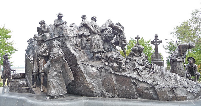 Great Irish Famine Memorial Statue at Penn's Landing, Philadelphia