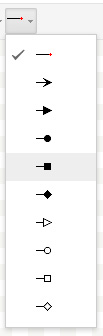 Google Docs: Drawing arrow types