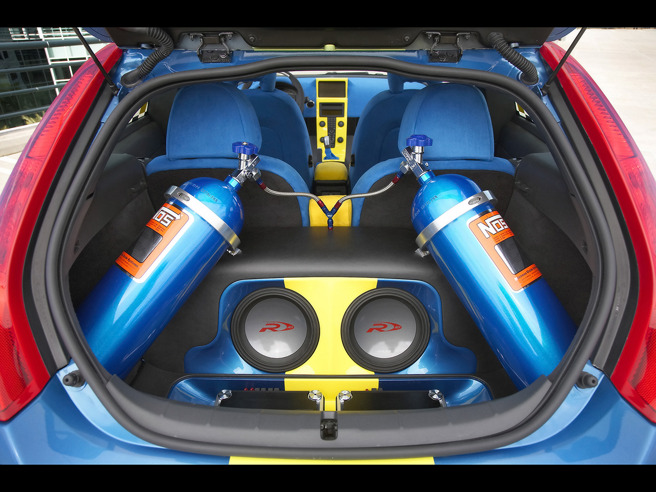 Nitrous Oxide Canisters in back of car