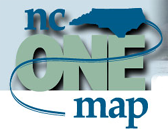Logo for NC One Map.