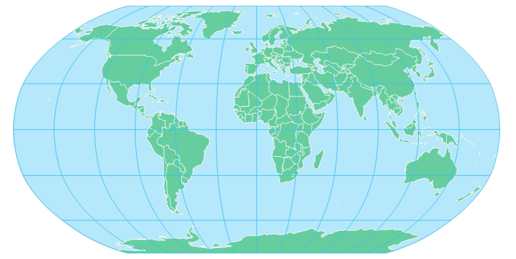 Robinson projection, see text above