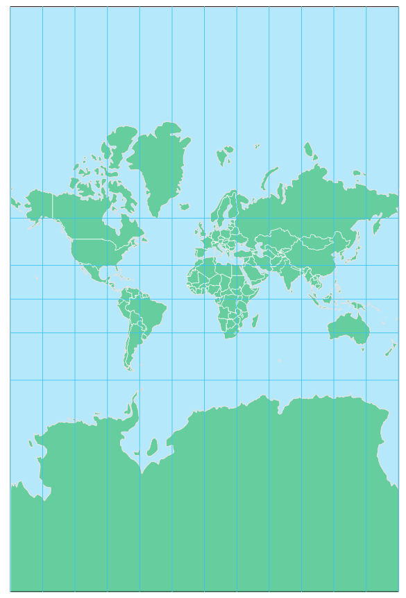 Mercator Projection, see text below