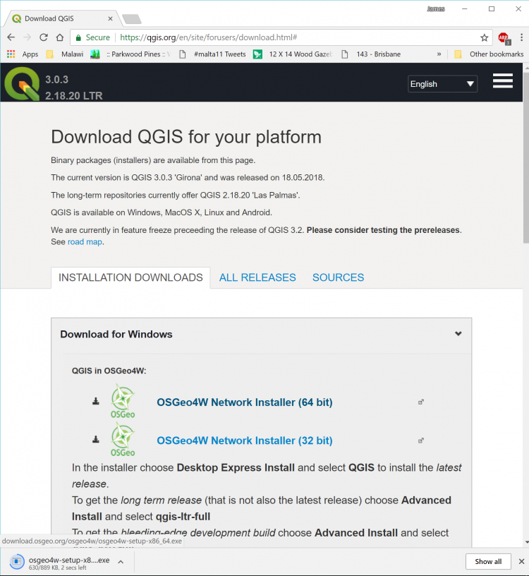 4 4 1 Downloading and installing QGIS | GEOG 489: Advanced Python