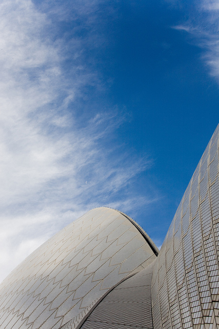 Photograph of the Sidney Opera House roof