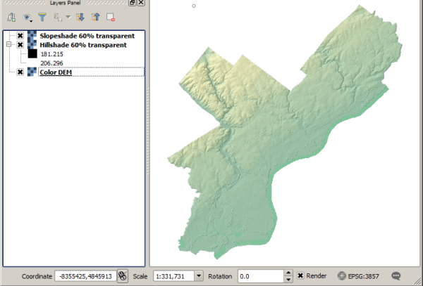 Walkthrough: Processing raster data with QGIS and GDAL | GEOG 585
