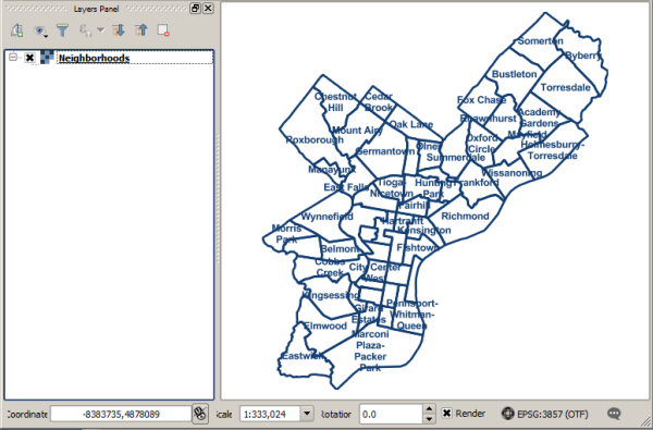 WMS layer in QGIS