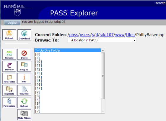 Extracted files in PASS
